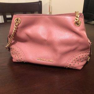 MICHAEL KORS pink chain purse